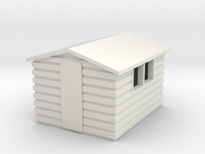 Garden Shed (Apex Roof) in White Natural Versatile Plastic