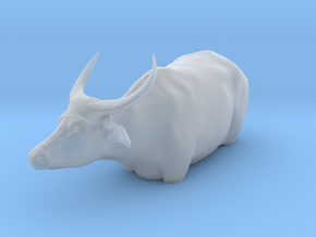 Domestic Asian Water Buffalo 1:9 In Deep Water in Smooth Fine Detail Plastic