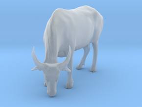 Domestic Asian Water Buffalo 1:9 Grazing Female in Smooth Fine Detail Plastic