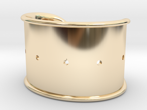 Cosplay Cuff Base (with holes for screw-back spike in 14k Gold Plated Brass: Small