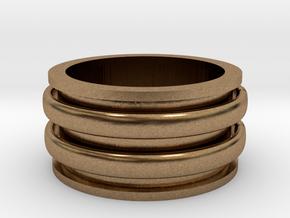 Celtic spinner size 9 in Natural Brass (Interlocking Parts)
