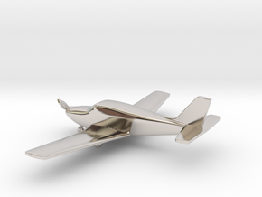Piper PA-24 Comanche in Rhodium Plated Brass: 1:108
