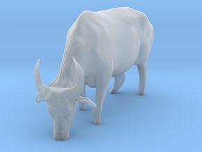 Domestic Asian Water Buffalo 1:6 Grazing in Water in Smooth Fine Detail Plastic
