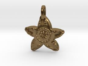 Starfish Charm Pendant in Natural Bronze