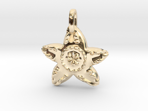 Starfish Charm Pendant in 14k Gold Plated Brass