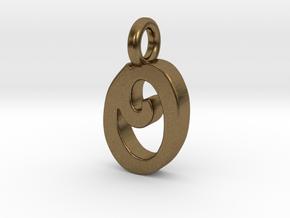 O - Pendant 2mm thk. in Natural Bronze