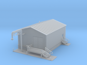 Water Building filling station Z scale in Smooth Fine Detail Plastic
