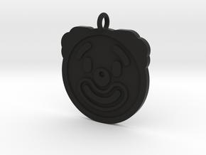 Clown Pendant in Black Natural Versatile Plastic