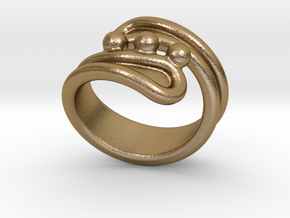 Threebubblesring 22 - Italian Size 22 in Polished Gold Steel