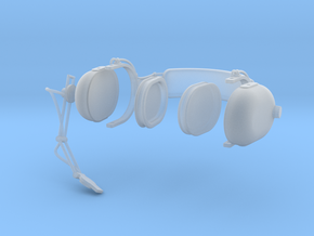 1.7 PILOT HEADSET CLARK in Smooth Fine Detail Plastic