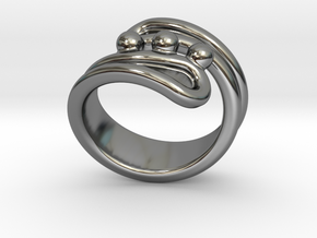 Threebubblesring 23 - Italian Size 23 in Fine Detail Polished Silver