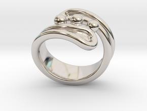 Threebubblesring 23 - Italian Size 23 in Platinum