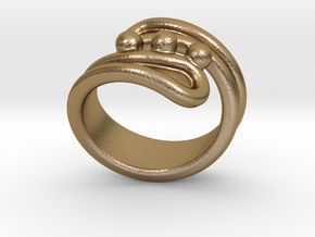 Threebubblesring 23 - Italian Size 23 in Polished Gold Steel