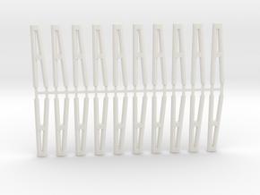 Duckdalben 2er rund 20erSet 1:120 in White Natural Versatile Plastic