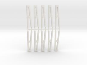 Duckdalben 2er rund 10erSet 1:120 in White Natural Versatile Plastic