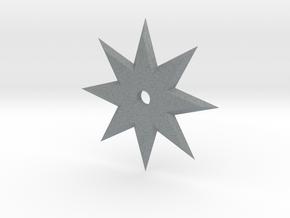 8 Point Ninja Star in Polished Metallic Plastic