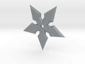 5 Point Ninja Star in Polished Metallic Plastic