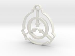 SCP Pendant in White Natural Versatile Plastic