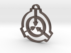 SCP Pendant in Polished Bronzed Silver Steel