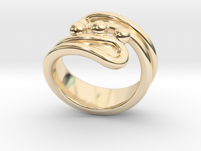 Threebubblesring 25 - Italian Size 25 in 14K Yellow Gold