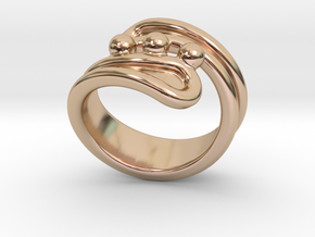 Threebubblesring 25 - Italian Size 25 in 14k Rose Gold Plated Brass