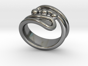 Threebubblesring 26 - Italian Size 26 in Fine Detail Polished Silver