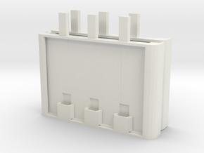 Miniature Floating Pontoon Bridge - Expansion Pack in White Natural Versatile Plastic: 1:144