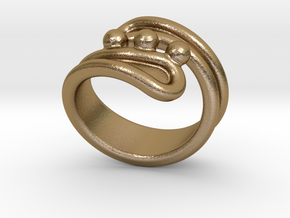 Threebubblesring 26 - Italian Size 26 in Polished Gold Steel