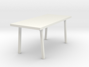 Miniature Vastanby Table - IKEA in White Natural Versatile Plastic: 1:24
