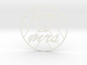 monogram coasters in White Processed Versatile Plastic