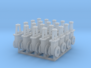 1:48 6in Gate Valve 3b - 20ea in Smooth Fine Detail Plastic
