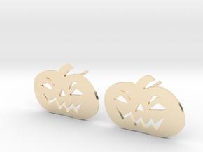 Jack-O-Lantern Earrings in 14K Yellow Gold