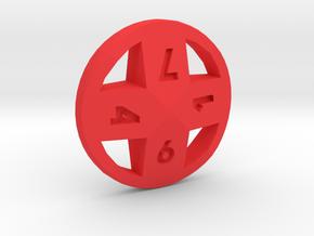 Cross d8 in Red Processed Versatile Plastic