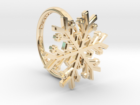Snowflake Ring 1 d=16mm h21d16 in 14k Gold Plated
