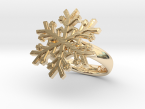 Snowflake Ring 1 d=16mm h35d16 in 14K Yellow Gold