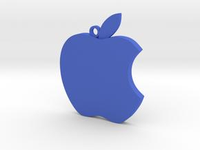 Apple logo in 3D in Blue Processed Versatile Plastic