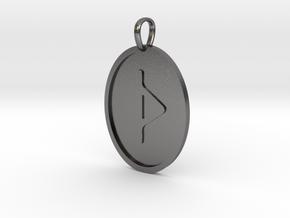 Thurisaz Rune (Elder Futhark) in Polished Nickel Steel