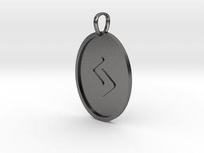 Jera Rune (Elder Futhark) in Polished Nickel Steel
