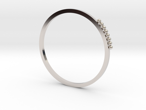 Minimalist Stackable Ring in Rhodium Plated