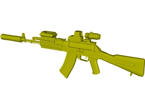 1/48 scale Avtomat Kalashnikova AK-74 rifle x 1 in Smoothest Fine Detail Plastic