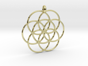 Flower of Life - Hollow Pendant in 18k Gold Plated Brass