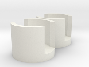 AT-AT End Cap x2 in White Natural Versatile Plastic