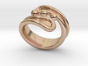 Threebubblesring 29 - Italian Size 29 in 14k Rose Gold Plated Brass