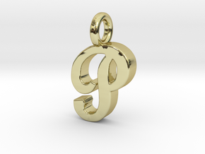 P - Pendant 2mm thk. in 18k Gold Plated