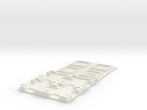 MEMS Chip Carrier 2x2 Tray (15mm square die size) in White Natural Versatile Plastic