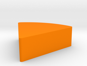 Sliced Cheese Game Piece in Orange Processed Versatile Plastic
