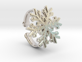 Snowflake Ring 1 d=16.5mm Adjustable h35d165a in Platinum