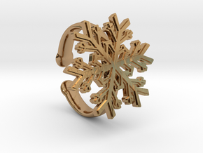 Snowflake Ring 1 d=16.5mm Adjustable h35d165a in Polished Brass