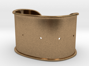 """Cuff Band Only - Bent (for wrists 2.5""""x1.5"""") in Natural Brass"""
