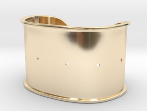 "Cuff Band Only - Bent (for wrists 2.5""x1.5"") in 14k Gold Plated Brass"
